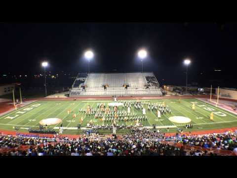 Cedar Park High School Timberwolf Marching Band @ 2014 Leander ISD Festival of Bands