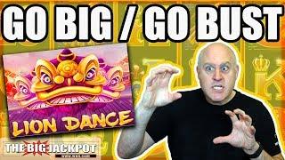 Go BIG or Go BUST! 😱Lion Dance Slot Machine   The Big Jackpot