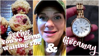 🥣CRANBERRY ORANGE Bakery Style Muffins😋 & Jord Giveaway