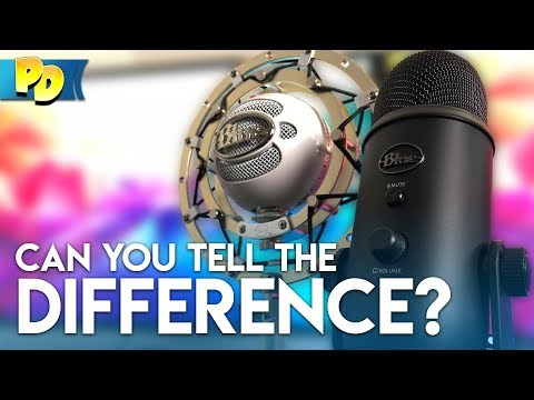 BLUE SNOWBALL vs BLUE YETI | Can you tell the difference?