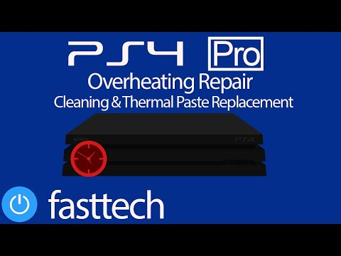 PS4 Pro is Too Hot and Turns Off - Overheating Repair (Cleaning and Thermal Paste Replacement)