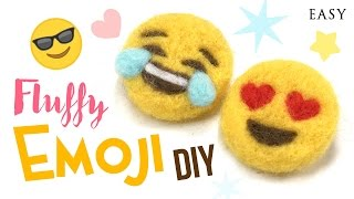 DIY Emoji Using Needlefelt! Make Adorable Badges or DIY Dollhouse Miniatures