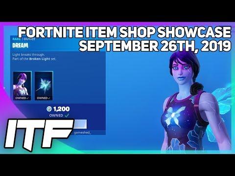 Fortnite Item Shop DREAM IS BACK! [September 26th, 2019] (Fortnite Battle Royale)