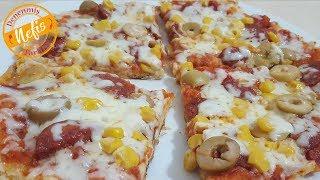 Bazlamadan Pizza Tarifi - Tavada Kolay Pizza