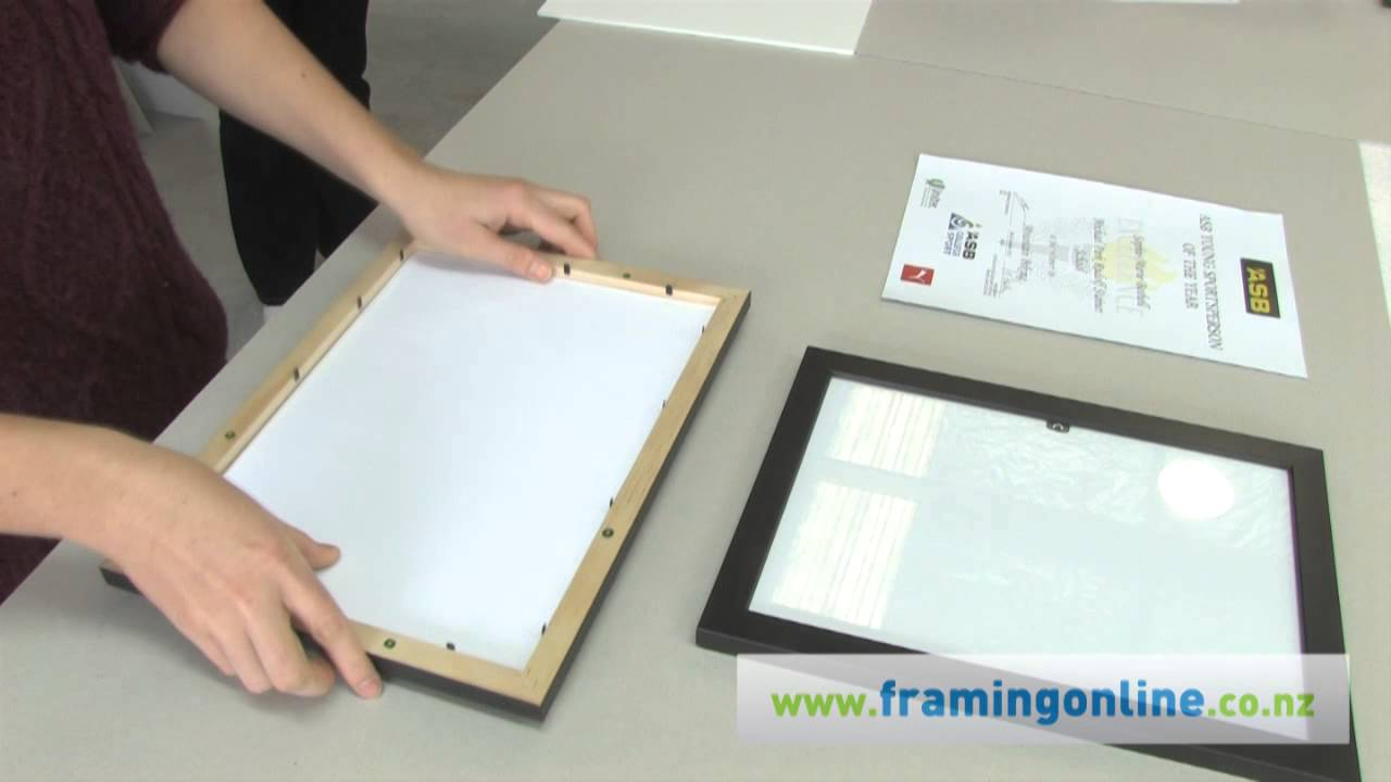 How to Frame a Picture: Without a Mat - YouTube