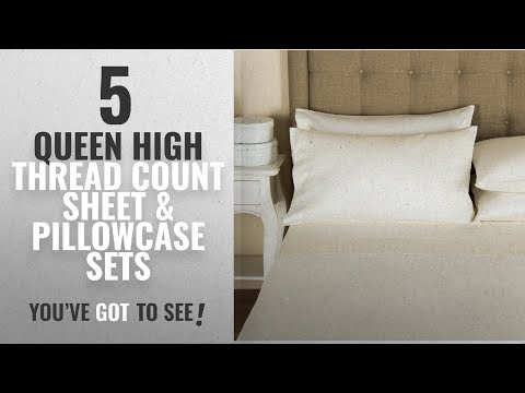 Top 10 Queen High Thread Count Sheet & Pillowcase Sets [2018]: Mayfair Linen Hotel Collection 100%