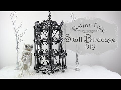 Skull Birdcage DIY / Dollar Tree Halloween DIY / Halloween Prop