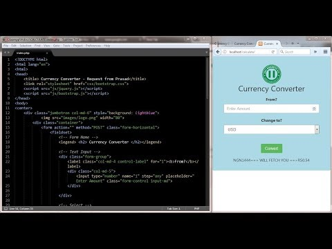 Design A Currency Converter Using Bootstrap & PHP - Part A