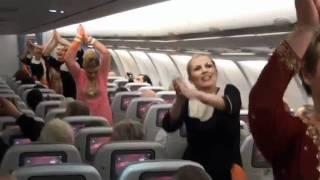 Surprise Dance on Finnair Flight to celebrate Indias Republic Day