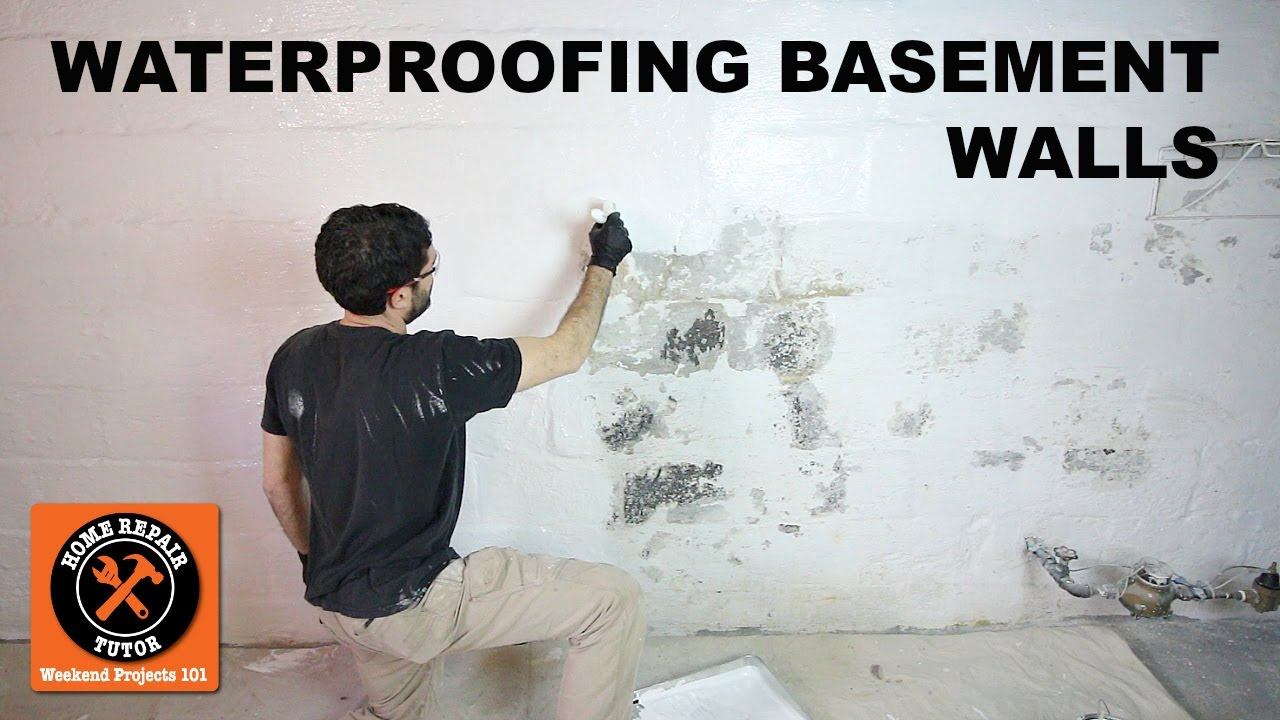 Reasons To Use The Water Sealant Paint For Basement Waterproofing Basement Walls with DRYLOK® Paint -- by Home Repair Tutor