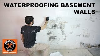 Waterproofing Basement Walls with DRYLOK® Paint -- by Home Repair Tutor