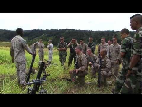 U.S. Marines and French Airborne - Mortar & M240 Machine gun (AMERCAL PART 13)
