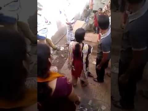 Girl giving Punishment to Boy