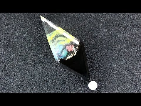 Resin art jewelry| Amazing Double flowers diamond pendant | DIY epoxy resin art jewelry