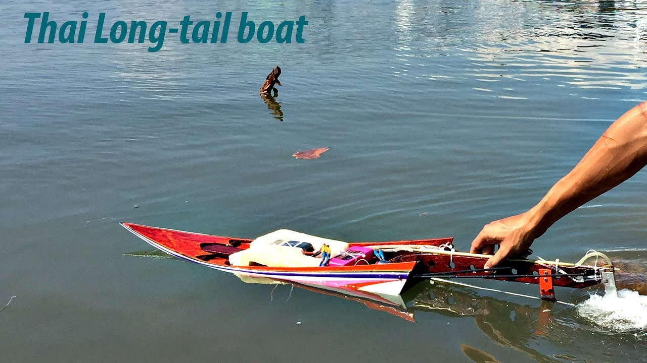 Chế tàu mô hình kiểu Thái   Thai Drag Race Long-tail boat Rc