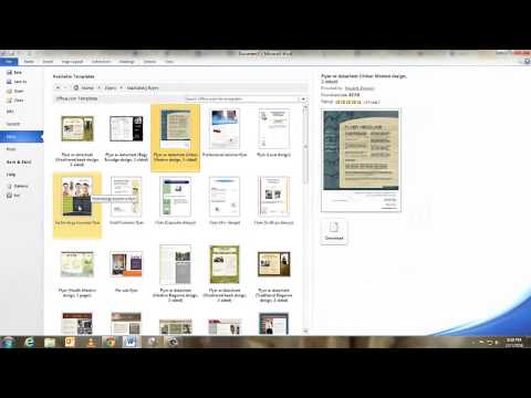 create a flyer in word