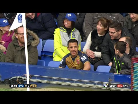 Alexis Sanchez vs Everton (Away) 15-16 HD 720p - English Commentary