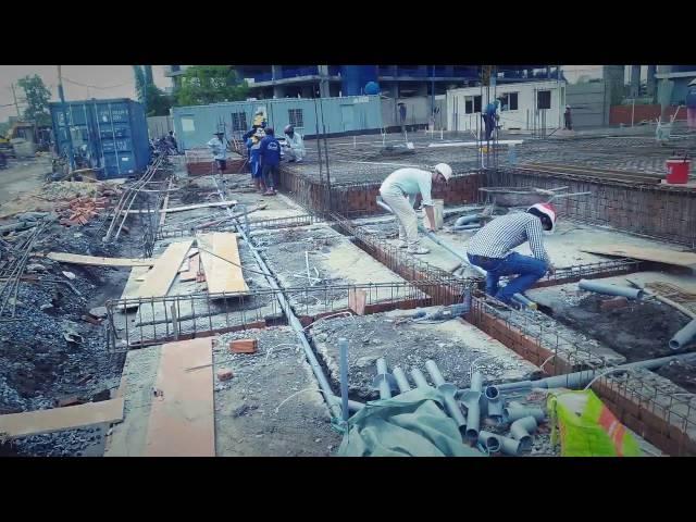 Đài phun nước - hồ bơi dự án Tháp Mười - Khang Điền