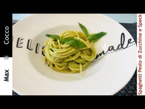 spaghetti-pesto-di-zucchine-e-speck---semplice-e-veloce