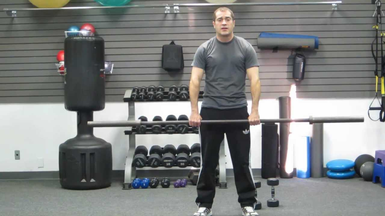 How to upright row dumbbell or barbell back exercise