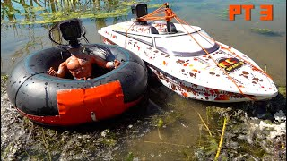 """I """"MADE"""" a """"CAMERA-MAN"""" the sent him TUBING BEHIND a POWERFUL JET BOAT - THRASHER 