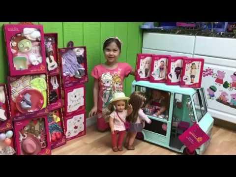 HUGE YELLOW EGG SURPRISE TOYS Ice Cream Truck OG Dolls Disney Frozen Queen Elsa Toy Freaks Girl Doll