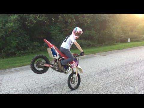 CRAZY CR85 Rippin' and Wheelies ft. Andrew Haselhuhn