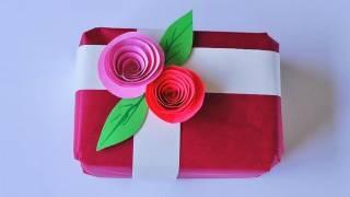 Repeat youtube video Cómo hacer un adorno para envoltorio de regalo - Manualidades para todos