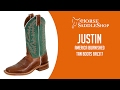 Justin Boots Women's America Burnished Tan Boots BRL317