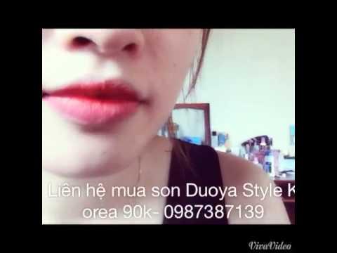 Cách đánh son môi trái tim bằng son Duoya Style số 01-90k            LH mua hàng:0987 387 139.