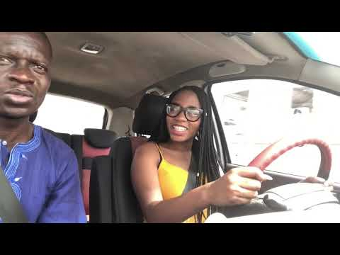 Learning to drive in Lagos! My first lesson 😱 #ACupOfKhafi