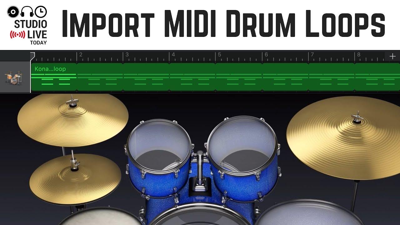 how to import midi drum loops in garageband ios ipad iphone youtube. Black Bedroom Furniture Sets. Home Design Ideas