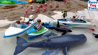 Playmobil Family Fun Diving Trip Building Playset And Sea Animals Toys