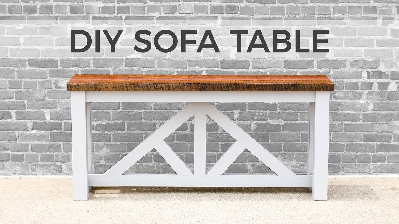 how to make a sofa table top cotton duck slipcover sure fit diy console build youtube