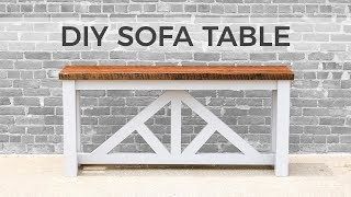 DIY Sofa Table / Console Table | How to Build
