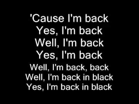 AC DC Back in Black lyrics