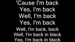 AC DC Back in Black (lyrics)