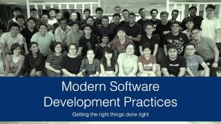 Modern Software Development Practices - Guest Lecture at SUTD-ISTD