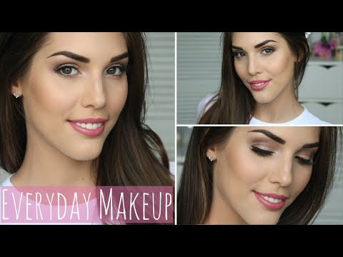 everyday neutral makeup tutorial  daytime  work