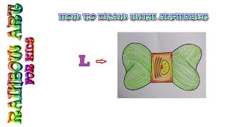Drawing With Letter : L ||How to Draw with Alphabet ||Easy Drawing  for Kids ||WOOLEN BUNDLE||
