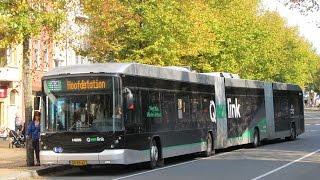 Qbuzz 3490 Hess Double Articulated Hybrid Bus @ G. Zuiderdiep, Groningen (NL) 03-10-2014 (HD Video)