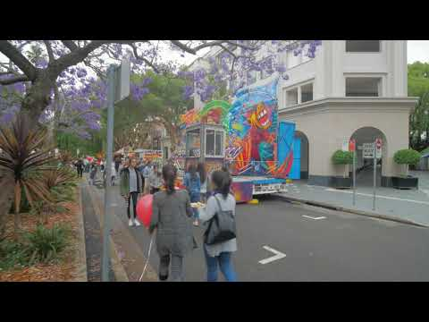 Sydney Video Walk 4K - Double Bay St Festival Spring 2017