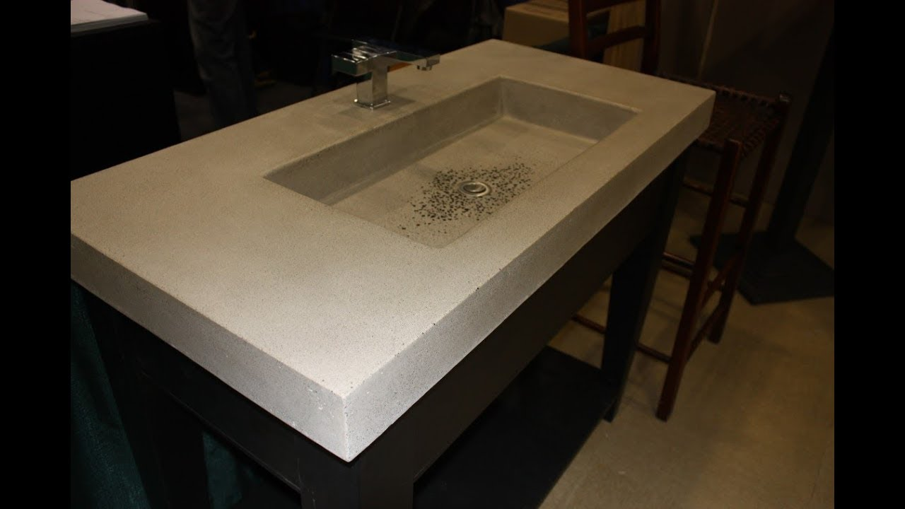 Concrete Trough Sinks Ideas - YouTube