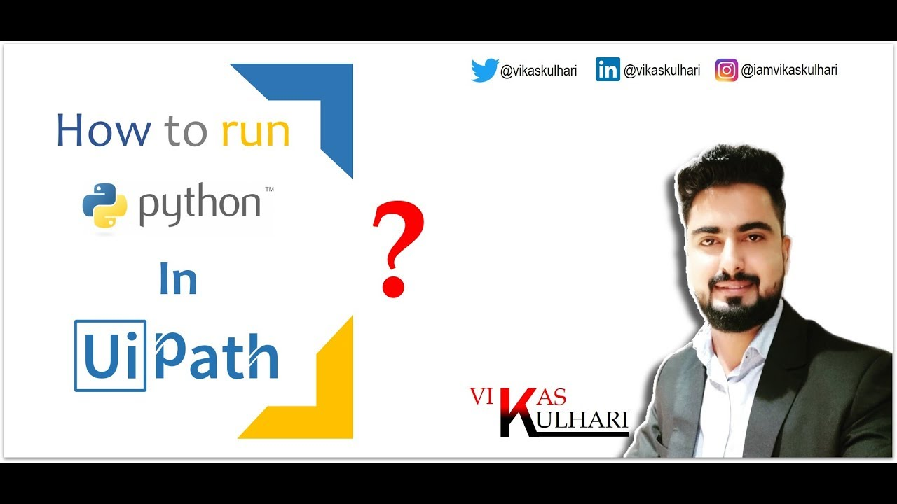 How to Invoke Python Script in UiPath?