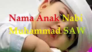 Daftar Nama Anak Nabi Muhammad SAW