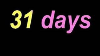Days Has September Days Month Rhyme