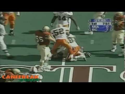 1999 Miami Hurricanes vs Boston College Highlights