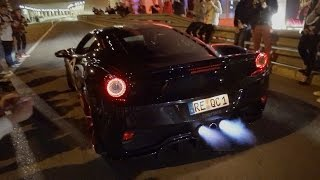 Monaco Supercar Night MADNESS! Flames, Revs & Accelerations!