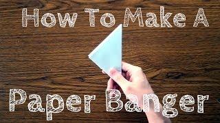 how to make a paper kunai youtube