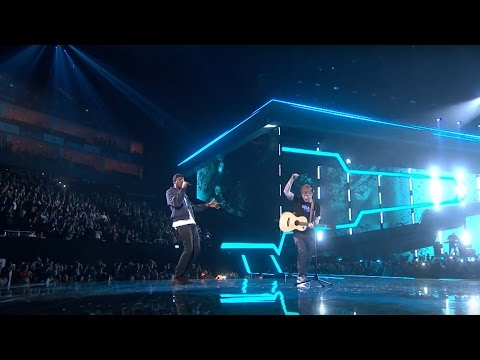 Ed Sheeran – Castle On The Hill & Shape Of You feat Stormzy  from the Brit Awards 2017